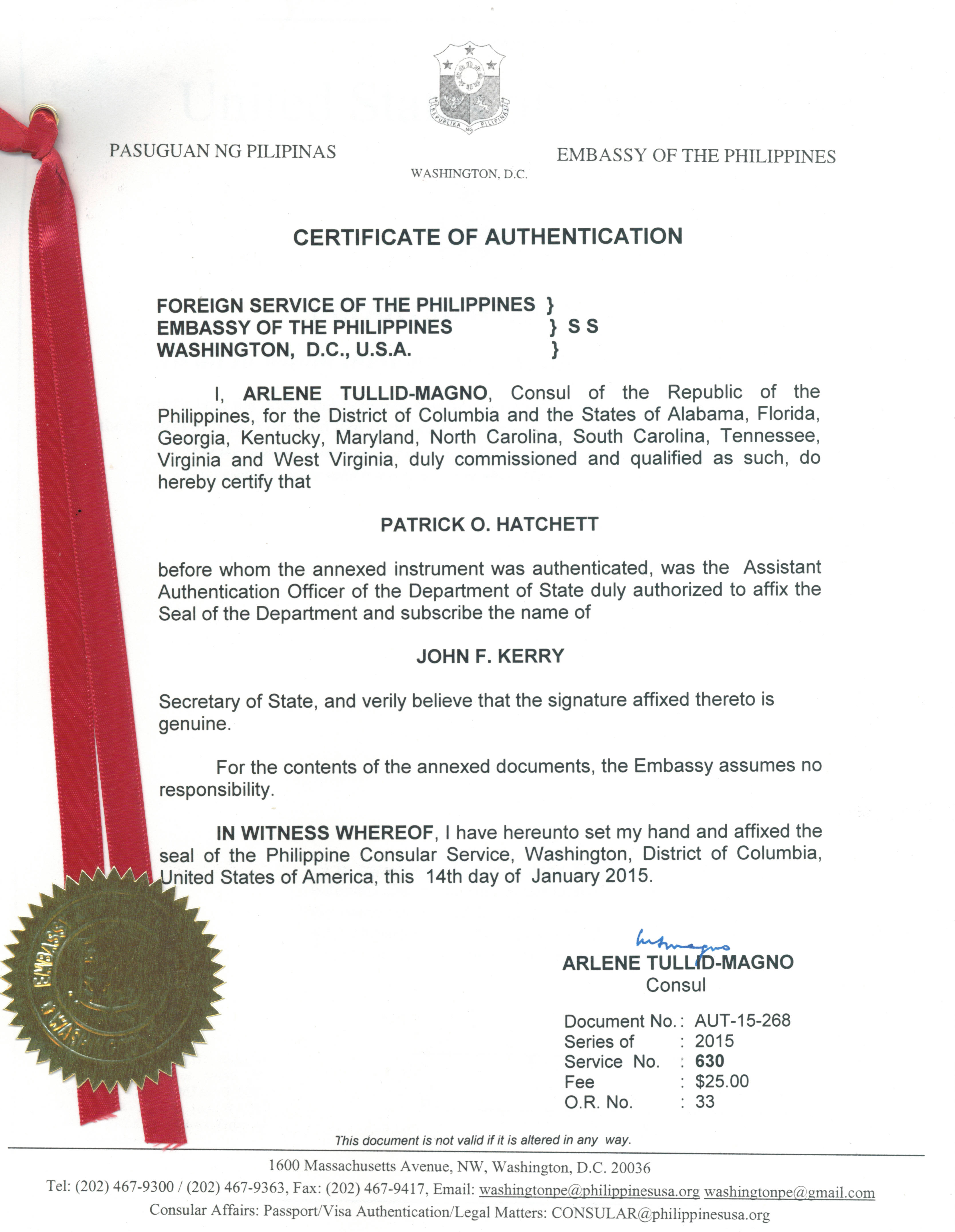 New york state apostille consulate legalization for Consul authentication